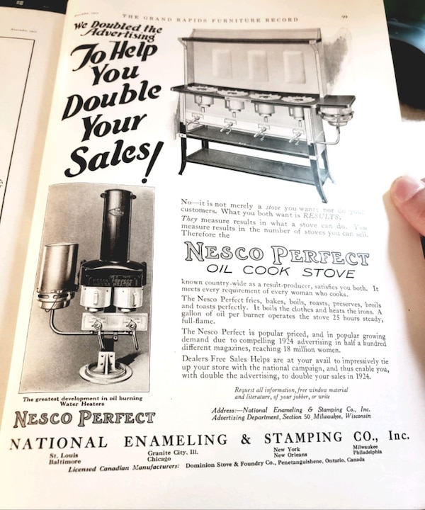 Used 1923 November The Grand Rapids Furniture Record For