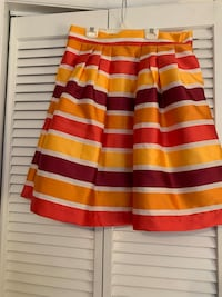 Eva Mendez Striped Skirt Size 12