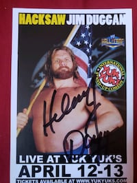 hacksaw signed promo card