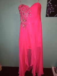 Pink glittered sweetheart spaghetti strap gown Lexington, 29073