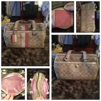 Coach Signature Chelsea Heritage strip Domed satchel/purse/handbag Pitt Meadows, V3Y 1M8