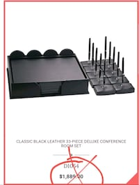NEw 33 pc. Deluxe conference room set