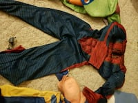 blue, red, and yellow textile Lacombe, T4L 1L4