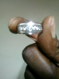 silver-colored diamond encrusted ring Fort Pierce, 34981