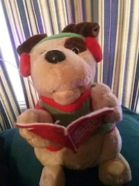 brown and red bear plush toy Winfield, 35594