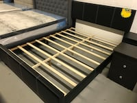 Brand new black queen faux leather platform bed frame warehouse sale 马卡姆, L3S 4B5