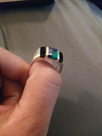 Mens 925 silver ring with turquoise Albuquerque, 87108