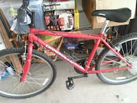 red and black hardtail mountain bike Alcoa, 37701