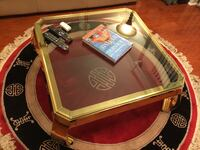 Solid Brass table-glass top and carpet Fort Washington, 20744