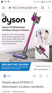 Dyson v7 motorhead brand new never opened for 150 La Mesa, 91942