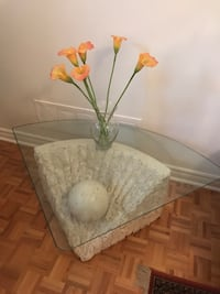 Glass coffee table and 2 glass side tables  Toronto, M8V 3C5