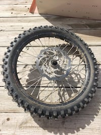 2005 ktm 450SX front wheel rim and tire
