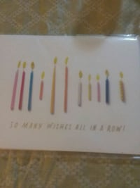 Candle birthday card Metairie