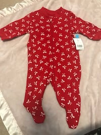 baby's red and white polka-dot footie Brampton, L7A 3S6