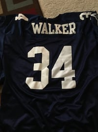 black and white Walker 34 jersey shirt