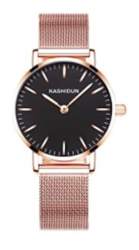Brand New Seal in Box  Women's Watches Gorgeous Waterproof Quartz Wristwatches Mesh Alloy Bracelet Small Size Rose Gold Color Hayward, 94544