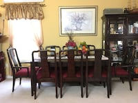 PRICE REDUCED!!! Brown wooden dining table with chairs Piscataway, 08854