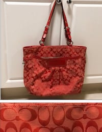 brown and red Coach monogram tote bag Corpus Christi, 78408