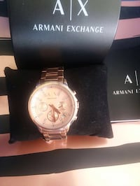 Women's brand new rose gold A/X Armani Exchange