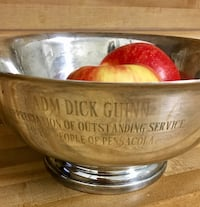 Silver plated trophy award bowl decoration