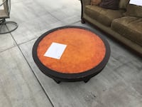 round brown wooden center table