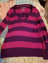 red and black striped long-sleeved shirt London, 40744