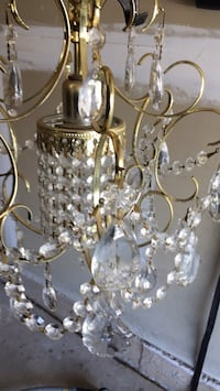 Silver-colored and white uplight chandelier Oakville, L6M 3L9