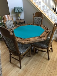 Oak poker table and chairs. Nice cond! Newark, 19702