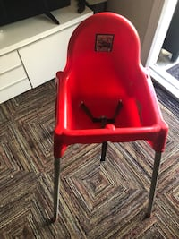 Antilop high chair red color