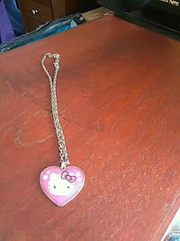 silver chain necklace with heart pendant Tracy, 95376