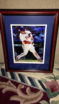 Baseball collectible framed picture