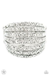 silver and diamond studded ring Sulphur, 73086