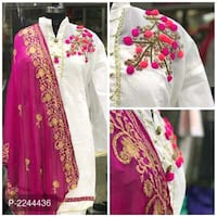 women's pink and white floral dress collage Jaipur, 302015