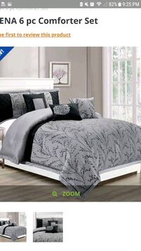 white and black floral bed comforter Calgary, T2A 4V5