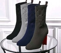Louis Vuitton ladies sock heel boots Chicago
