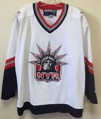 (Rare) NY Rangers White Liberty Collector's Jersey XL Burlington
