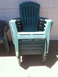 7 large lawn chairs and 2 smaller ones Lincoln, 95648