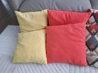 two red and one yellow throw pillows Villa Park, 60181