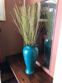 green and blue ceramic vase Chicago