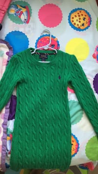 Green polo Dress size 7 46 mi