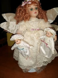 MANN'S  COLLECTIBLE PORCELAIN ANGEL DOLL AND CHILDREN Prior Lake, 55372