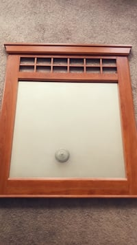Brown wooden framed wall mirror Chicopee, 01013