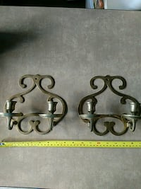 Brass wall hanging candle holders (2) Manassas, 20109
