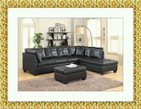 Black sectional free ottoman and delivery  Gaithersburg