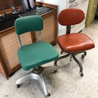 VINTAGE GREEN MID CENTURY TABKER DESK METAL CHAIR INDUSTRIAL MORE MORE THAN PICTURED INFO IN AD 2266 mi