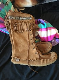 Lady's Tall Moccasin Boots
