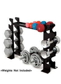 Marcy Compact Dumbbell Rack Free Weight Stand for Home Gym