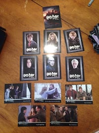 Harry Potter trading cards- deathly hallows part 1 full set near mint condition  Centreville, 20120