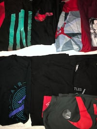 assorted clothes collection