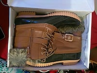 black-brown-beige fur-lined side-zipped duck boots Napoleonville, 70390